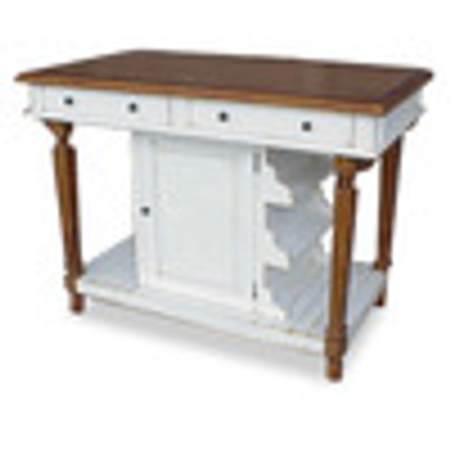 Custom Decorator - Hardwood Hand Carved - Cottage 51 Inch Kitchen Island