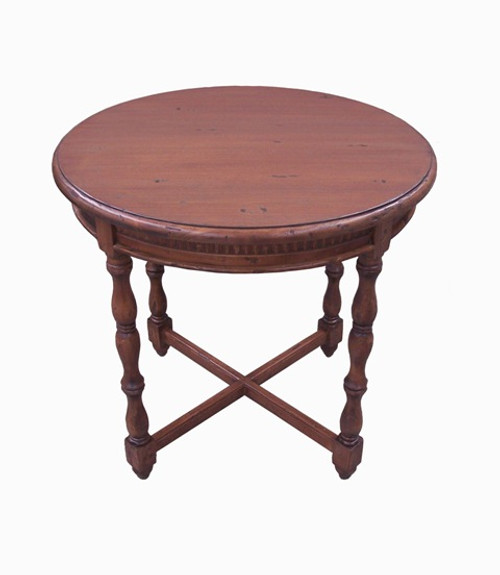 Custom Decorator - Hardwood Hand Turned Reproduction - Classic End | Side | Lamp 29 Inch Round Table