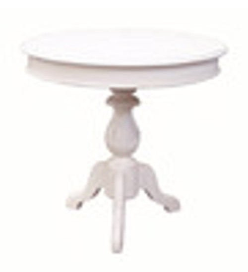 Custom Decorator - Hardwood Hand Turned Reproduction - Contemporary End | Side | Lamp 30 Inch Round Pedestal Table