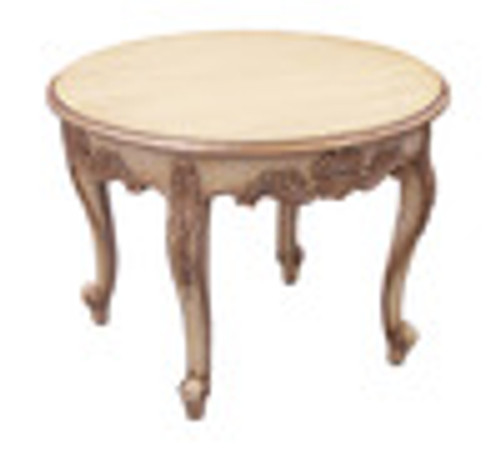Custom Decorator - Hardwood Hand Carved Reproduction - Classic Cocktail | Coffee 28 Inch Round Table