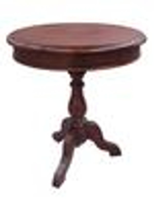 Custom Decorator - Hardwood Hand Turned Reproduction - Classic End | Side | or Lamp 24 Inch Round Table
