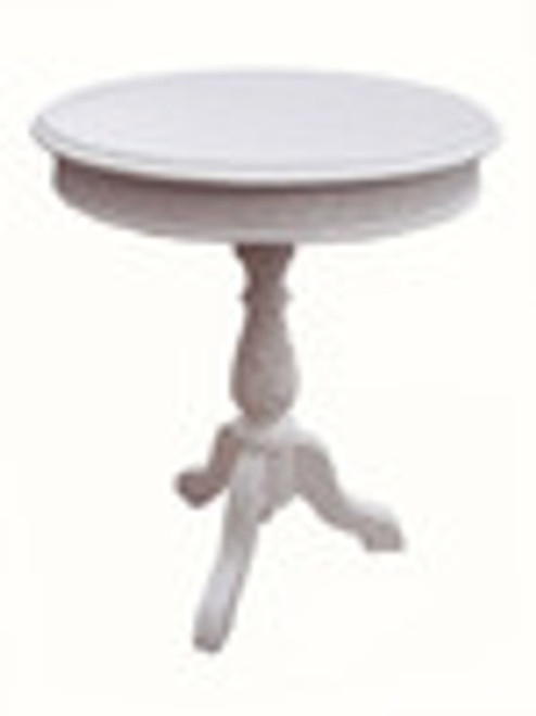 Custom Decorator - Hardwood Hand Carved Reproduction - Classic End | Side | or Lamp 24 Inch Round Pedestal Table 5654 C - 704tf