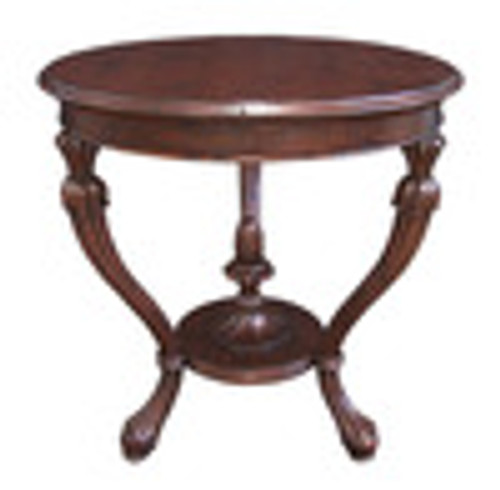 Custom Decorator - Hardwood Hand Carved Reproduction - Classic End | Side | or Lamp 29 Inch Round Table