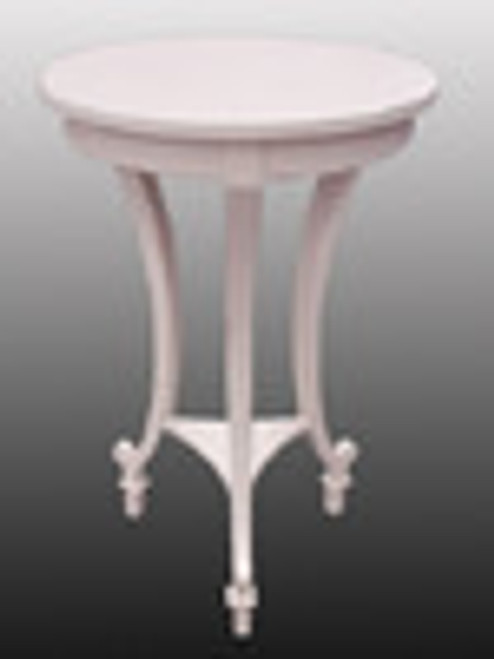 Custom Decorator - Hardwood Contemporary End | Side | or Lamp 20 Inch Round Table