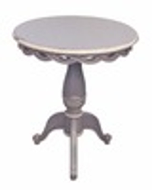 Custom Decorator - Hardwood Hand Carved Reproduction - Classic End | Side | or Lamp 24 Inch Round Pedestal Table