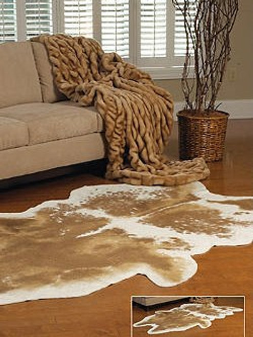 Antelope Faux Skin Rug - Natural Look and Authentic Shape - 56 Inches X 93 Inches
