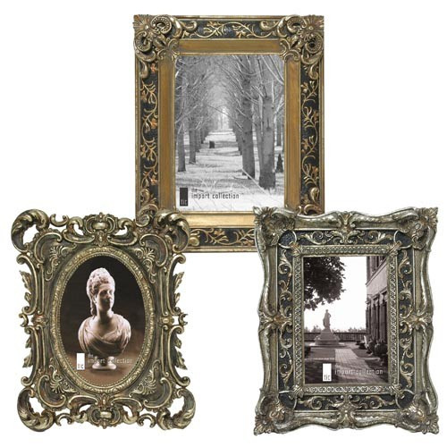 Ornate Baroque Style Photo Frames, Set of Three