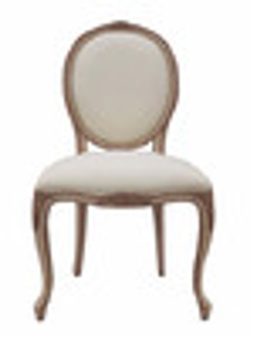 Custom Decorator - Hardwood Hand Carved Reproduction - Transition | Louis XV Rococo and Louis XVI Neo Classical Fauteuil - Dining | Accent 37 Inch Side Chair - Upholstered Oval Back and Seat