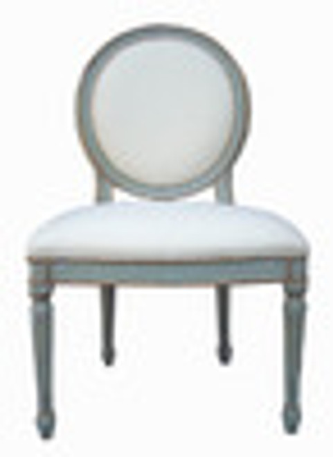 Custom Decorator - Classic 41.3 inch Dining Side Chair - Upholstered Back and Seat
