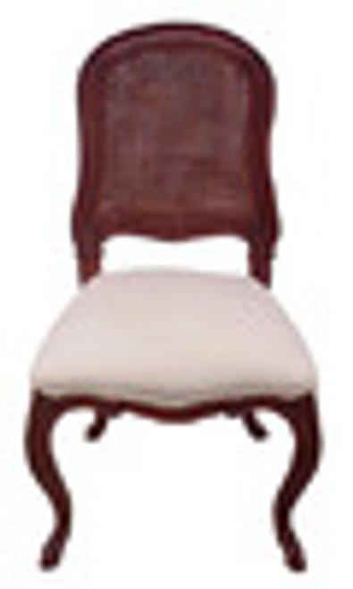 Custom Decorator - Classic 39.4 inch Dining Side Chair - Cane Back   Upholstered Seat