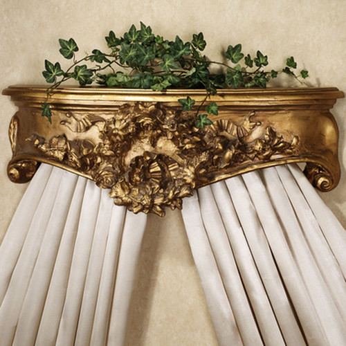 "Classic Elements, Couronnes floraux et Rubans, 24"" Florals Wreaths and Ribbons Bed Canopy Crown 