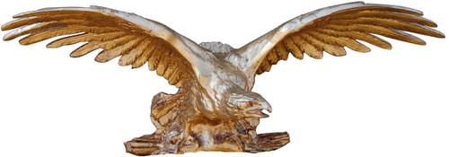 A Classic Elements 26w x 9t, American Bald Eagle in Flight Wall Plaque Over Door Pediment, Custom Finish