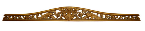 A Classic Elements 77w x 8t, Antiqued Gilt, Acanthus and Scroll Wall Plaque Over Door Pediment, Customizable