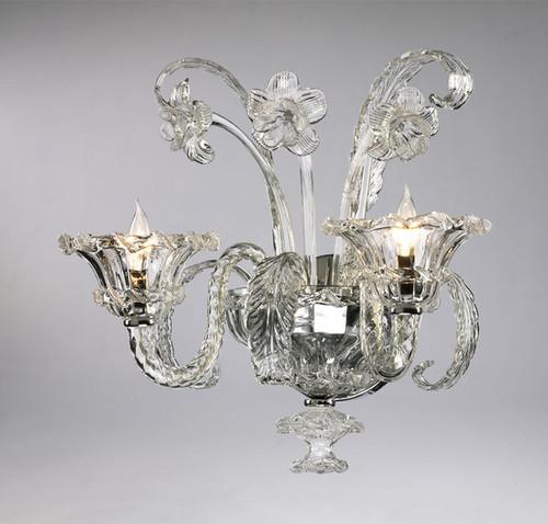 Giardini Italiani Pattern - Two Light Crystalline Glass Wall Bracket   Sconce