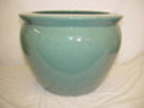 Celadon Decorator Crackle - Luxury Handmade Chinese Porcelain - 06 Inch Fish Bowl   Planter - Style 35