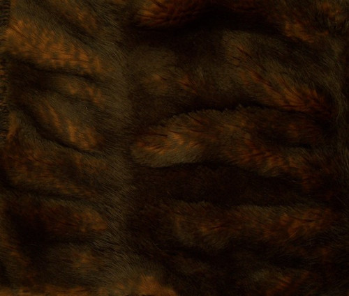 Sheared and Gather Pleated Mahogany Brown Mink - Luxaire Faux Fur Pet Blanket | Lounger - Natural look and Luxuriously Soft - 30 X 36 Inches