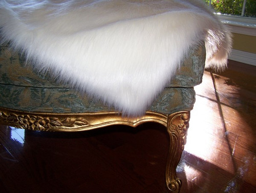 Snow White Fox Luxaire Faux Fur Throw - Natural look and Luxuriously Soft - Large 58 X 59 Inches