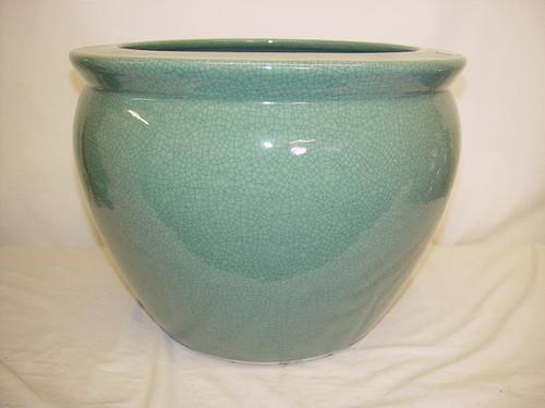 Celadon Decorator Crackle - Luxury Handmade Chinese Porcelain - 12 Inch Fish Bowl   Planter - Style 35