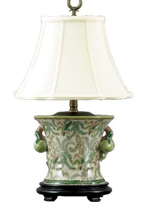A Classic Fern Pattern - Luxury Hand Painted Chinese Porcelain - 16 Inch Tabletop Lamp