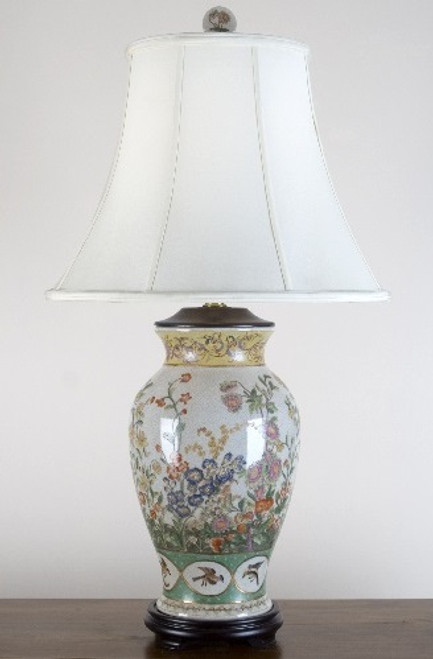 A Spring Gardens Pattern - Luxury Hand Made Chinese Porcelain - 32 Inch Table Lamp