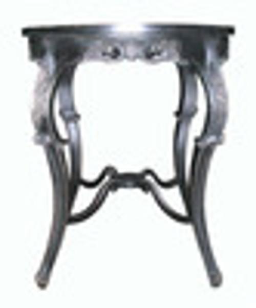 Custom Decorator - Round Hardwood 40.6 Inch Bistro Bar Table - Hand Carved