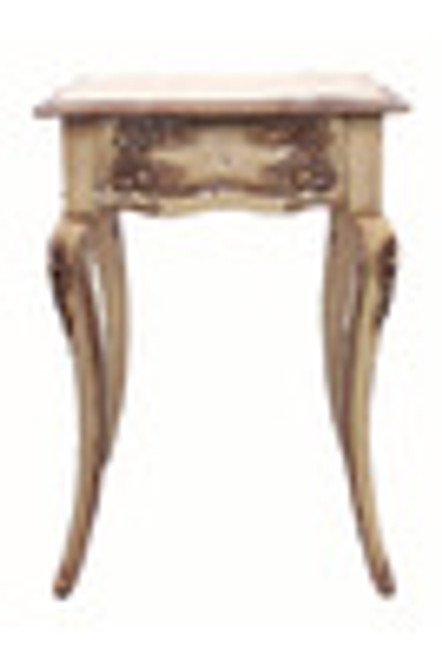 Custom Decorator - Rectangular Hardwood 28.3 Inch Accent End | Lamp Table - Hand Carved