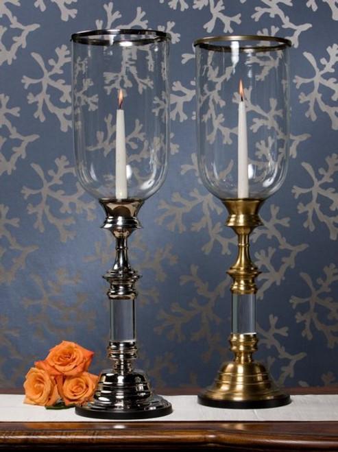 Brass, 27.5 Inch Hurricane Lamp, Antique Brass Finish