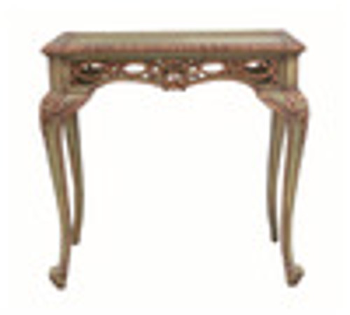 Custom Decorator - Rectangular Hardwood 31.5 Inch Accent End | Lamp Table - Hand Carved