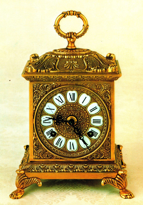 Fancy d'Oro Ormolu - Desk, Shelf, Mantel, Carriage Clock - Choose Your Finish - Handmade Reproduction of a 17th, 18th Century Dore Bronze Antique, 2522