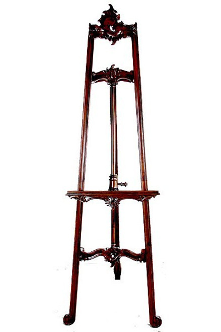 Hand Carved Wood Easel - 77 Inch Rococo Style - Adjustable