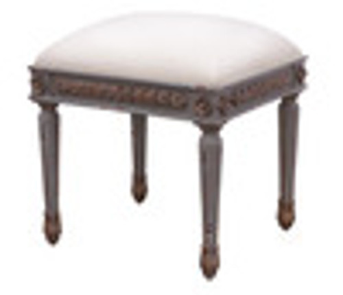 Custom Decorator - Late 18th Century Style Neo Classical - 17.7 Inch Foot Stool - Upholstered Seat