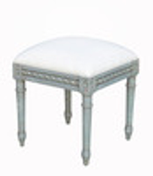 Custom Decorator - Late 18th Century Style Neo Classical - 16.5 Inch Square Foot Stool - Upholstered Seat