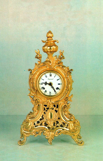 Ornamental d'Oro Ormolu - Desk, Shelf, Mantel, Louis XIV, Baroque Clock - Choose Your Finish - Handmade Reproduction of a 17th, 18th Century Dore Bronze Antique, 6752