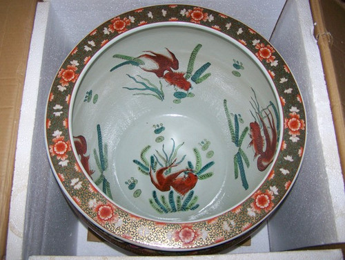 An interior of an LCP - Luxury Chinese Fish Bowl - Patterns Only!