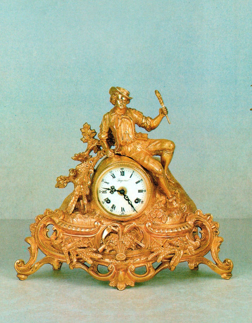 Ornamental d'Oro Ormolu - Desk, Shelf, Mantel, Louis XV, Rococo Clock - Choose Your Finish - Handmade Reproduction of a 17th, 18th Century Dore Bronze Antique, 6726