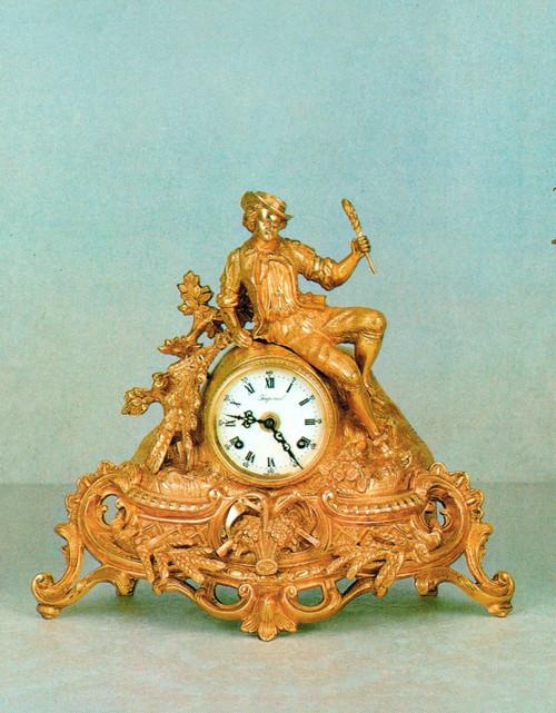 Ornamental d'Oro Ormolu - Desk, Mantel, Table, Louis XV, Rococo Clock - Choose Your Finish - Handmade Reproduction of a 17th, 18th Century Dore Bronze Antique, 6726