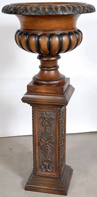 Cast - Classical 54 Inch Urn and Plinth - Pedestal Planter