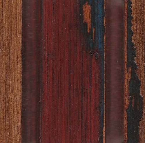 Red with Blue Undertone - Antique Gold Accent Furniture Finish