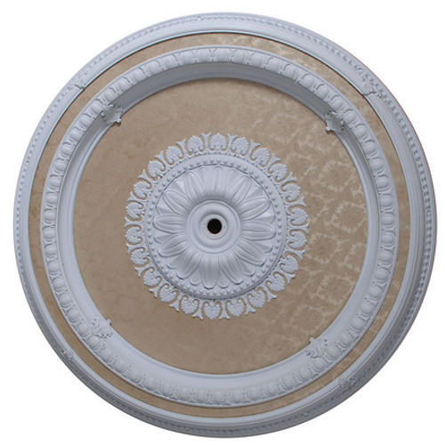 "Architectural Accents - Round 47"" Diameter x 3"" thick, 1286 White Damask Decorative Ceiling Medallion"