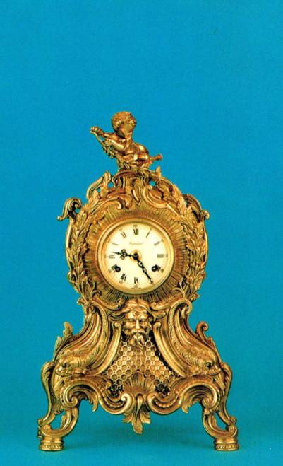 Ornate d'Oro Ormolu - Mantel, Table, or Desk Clock Louis XV, Rococo - Choose Your Finish - Handmade Reproduction of a 17th, 18th Century Dore Bronze Antique, 6672