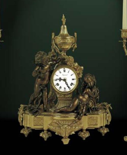 Ornate d'Oro Ormolu - Shelf, Mantel, or Desk Clock - Louis XV, Rococo - Choose Your Finish - Handmade Reproduction of a 17th, 18th Century Dore Bronze Antique, 6662