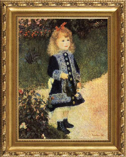 "A Girl With A Watering Can - Pierre Auguste Renoir - Framed Canvas Artwork4 sizes available|Click for info 769 23.5"" X 19.5"""