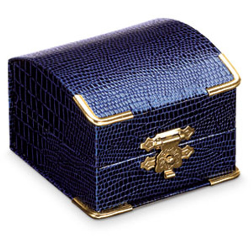 Blue Lizard Grain Jewelry Box - Gift Box