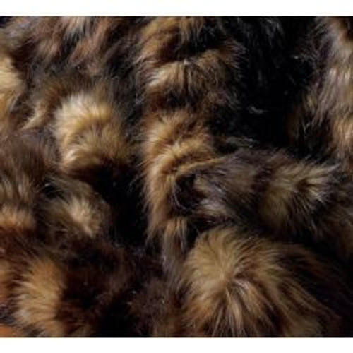 """Dark Spotted Wolf Faux Fur Throw - Natural look & Luxuriously Soft - Large 58"""" X 59"""""""