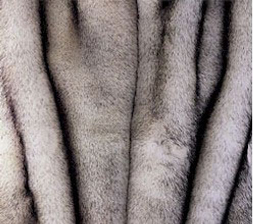 """Norwegian Fox Faux Fur Throw - Natural looking & Luxuriously Soft - Large 58"""" X 59"""""""