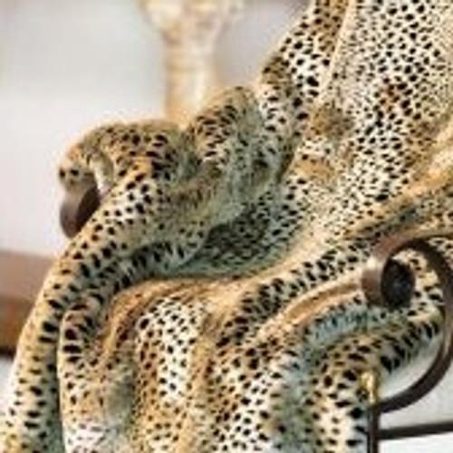 "Cheetah Faux Fur Throw - Natural look & Luxuriously Soft - Large 58"" X 59"""