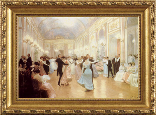 An Elegant Soiree - Victor Gabriel Gilbert - Framed Canvas Artwork3 sizes available|Click for info