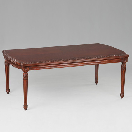 The Queen of France Marie Antoinette - French Neo Classical Period Louis XVI - 48 Inch Handcrafted Reproduction Versailles Cocktail   Coffee Table - Wood Tone Luxurie Furniture Finish NWND