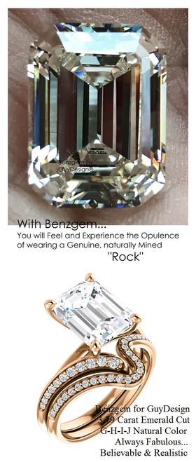 Emerald Cut Engagement Rings, Rose Gold, Wedding Rings, Simulated Diamond, Diamonds, Wedding Sets, 6644