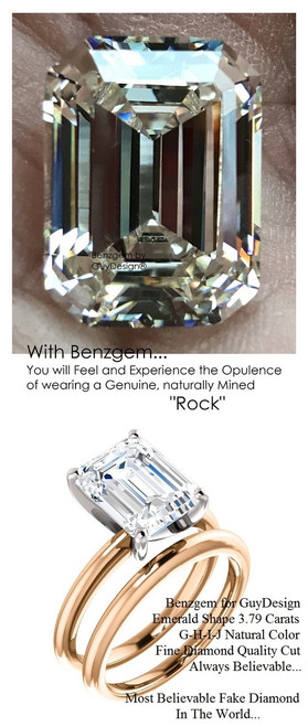 Emerald Cut Engagement Rings, Two Tone Gold, Wedding Rings, Simulated Diamond, Diamonds, Wedding Sets, 6682